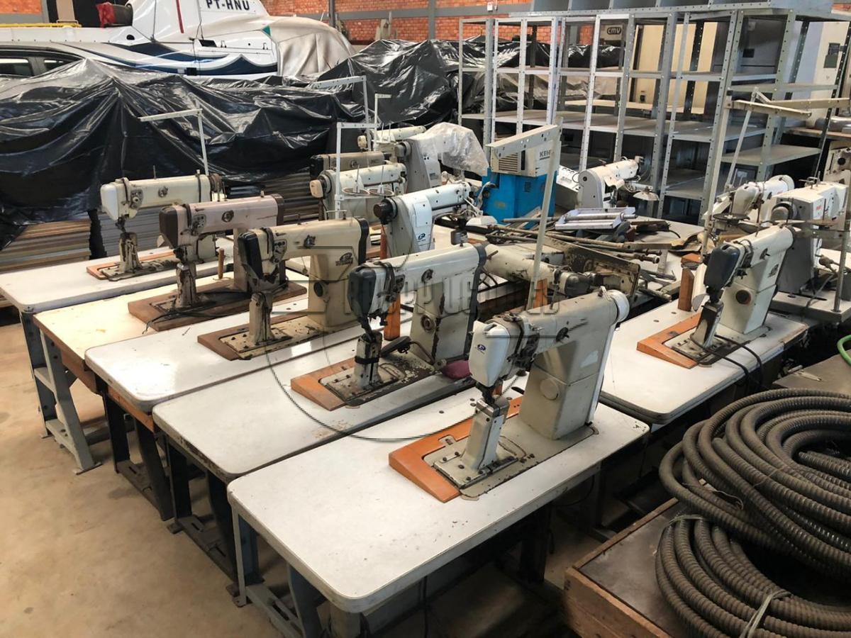 24 máquinas de costura - 02 máquinas de virar corte - 01 forno gelado